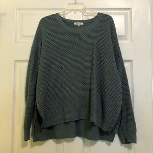 Madewell sweater with zippers